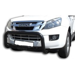 isuzu low nudge bar with sump guard powder coated