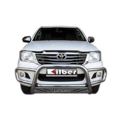 Toyota Fortuner 2005 - 2016 Universal Nudge Bar Wrap Around Low with Sump Guard 76 mm Tube Stainless Steel