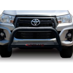 Toyota Hilux GD6 - 2016 to September 2020 Black Coated Stainless Steel Nudge Bar
