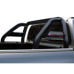 Hilux GD6 Sport Roll Bar with Side Tubes - Black Stainless Steel