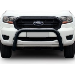 Ford Ranger T7 Fleet Nudge Bar - 2016 to Current Black Coated Stainless Steel Nudge Bar Fleet Series