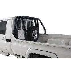 Landcruiser Black Stainless Triple Styling Bar