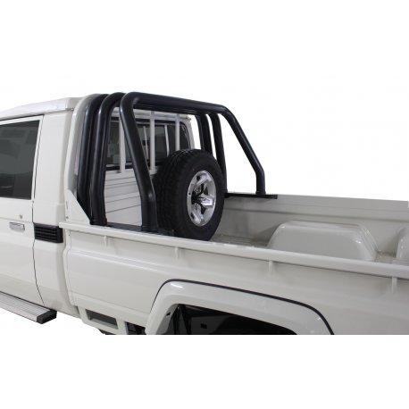 Landcruiser Black Stainless Triple Styling Bar