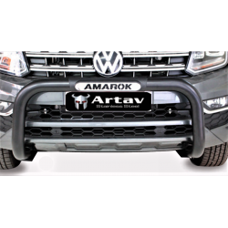 Vw Amarok Black stainless steel nudge bar (pdc approved)