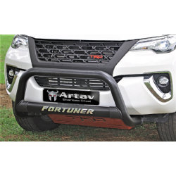 Toyota Fortuner Gd6 black stainless nudge bar