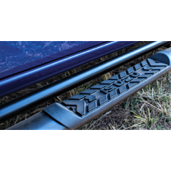 Isuzu Oval Side Steps for Double Cab - Black Stainless Steel