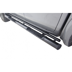 Ford Ranger T6 Black stainless steel club cab oval  side steps