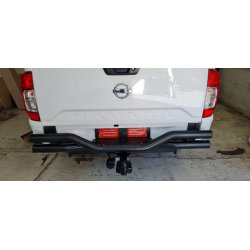 Nissan Navara D23 Facelift 2021 -  Black Stainless Steel Rear Step