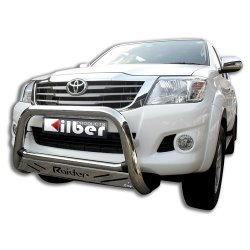 Hilux low nudge bar stainless steel