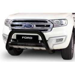 FORD RANGER T6 BLACK STAINLESS STEEL NEW FACE LIFT NUDGE BAR