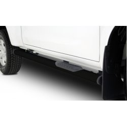 Isuzu Oval Side Steps for Single Cab - Black Stainless Steel