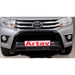 Toyota Hilux 2016 black stainless steel nudge bar with oval cross member