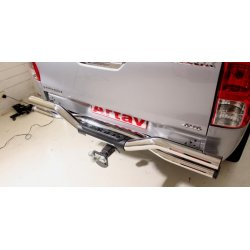 Hilux Oval Double Tube Rear Step 2016