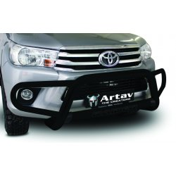 Toyota hilux 2016 black stainless steel tri nudge BUMPER PROTECTOR