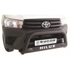 Toyota Hilux Fleet Range 2016+ Nudge Bar Black Stainless Steel