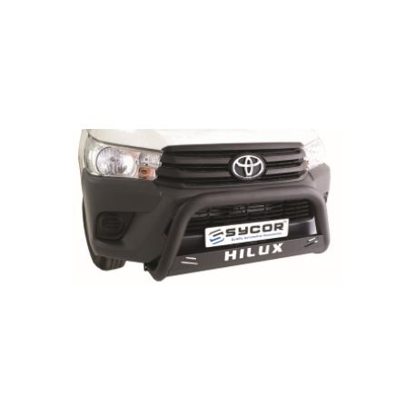 Toyota Hilux Fleet Range 2016+ Nudge Bar Black Stainless Steel