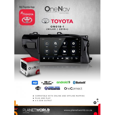 Toyota Hilux 2016+ navigation replacement unit